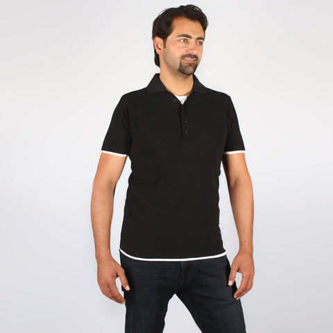 polo T- shirt- black-6245