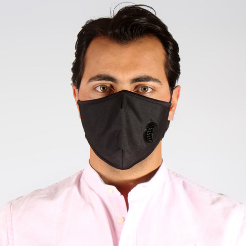 (K 95) Face Mask with inbuilt valve for easy breathing/ black -6286