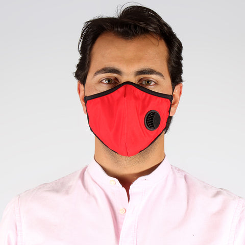 (K 95) Face Mask with inbuilt valve for easy breathing/ red -6287