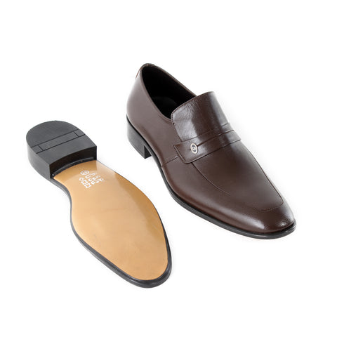 Formal  shoes /  100% genuine leather -brown -6368