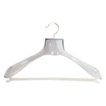 Clear plastic hanger / Ideal for suits, coats and jackets -6361