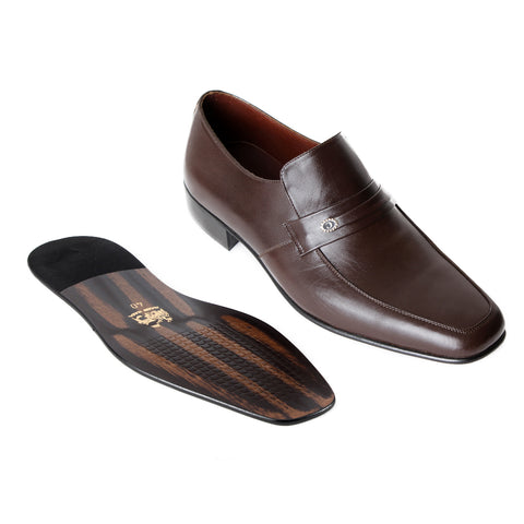 Formal  shoes /  100% genuine leather -brown -6884