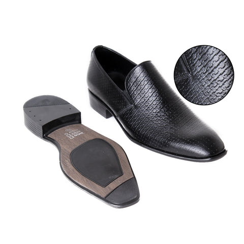 Formal winter shoes /  100% genuine leather -Black -6672