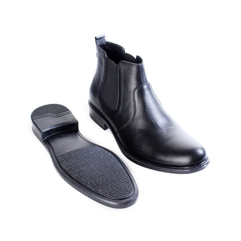 Formal winter shoes /  100% genuine leather -Black -6489