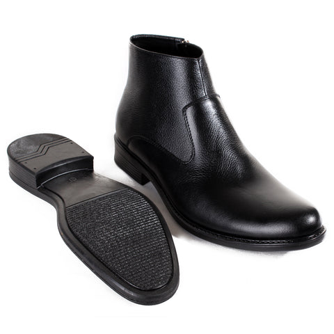 Formal winter shoes /  100% genuine leather -Black -6581