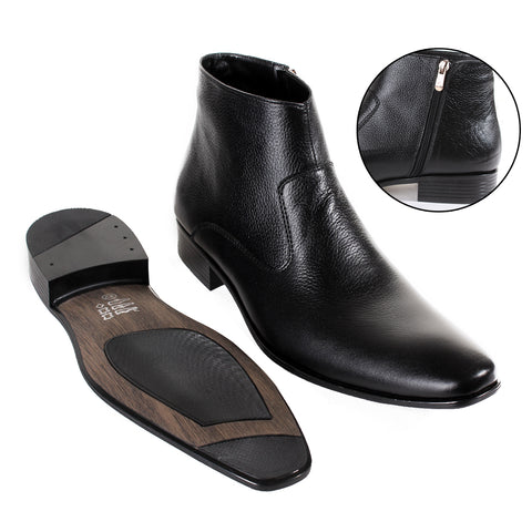 Formal winter shoes /  100% genuine leather -Black -6582