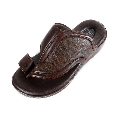 Men Medical Slipper / Faux Leather / Made in Turkey/ brown