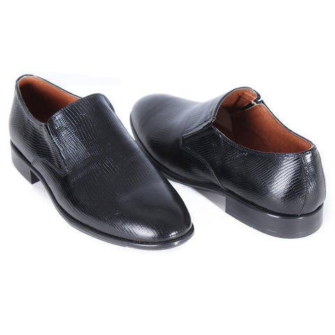 Formal shoes / 100% genuine leather – handmade black -6860