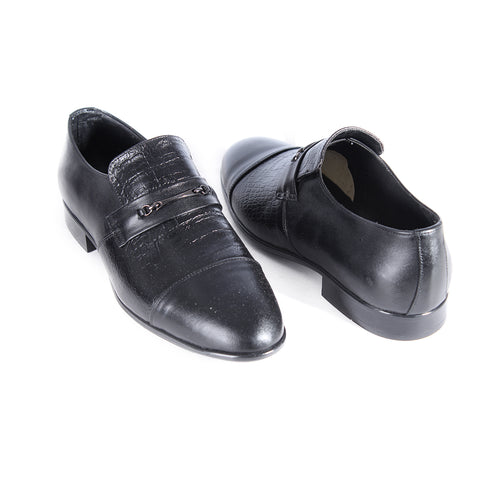 Formal shoes / 100% genuine leather – handmade black -6861