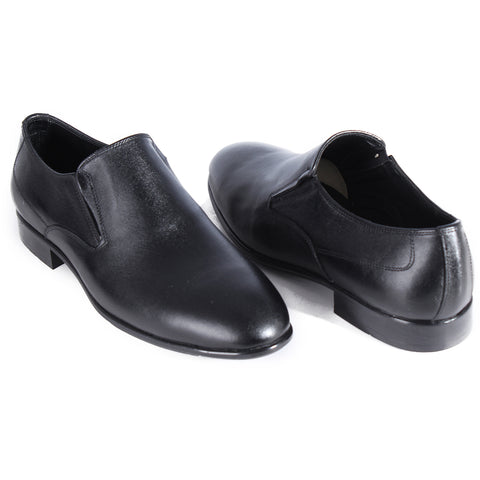 Formal shoes / 100% genuine leather – handmade black -6862