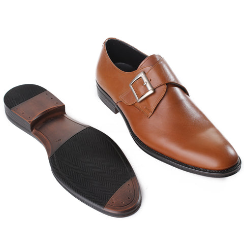 Formal  shoes /  100% genuine leather -Honey-6890