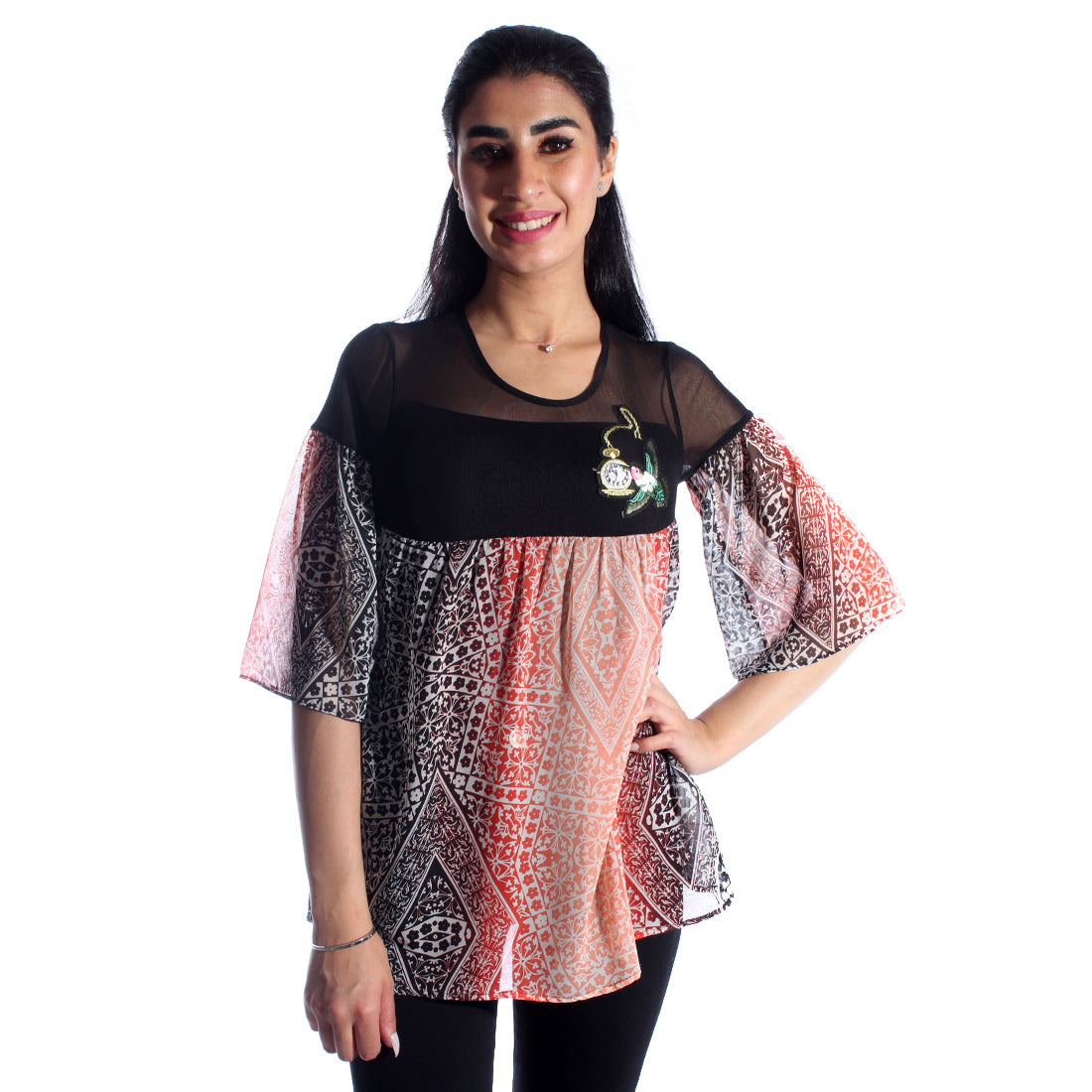women top chiffon/ polyester/ made in Turkey -3440