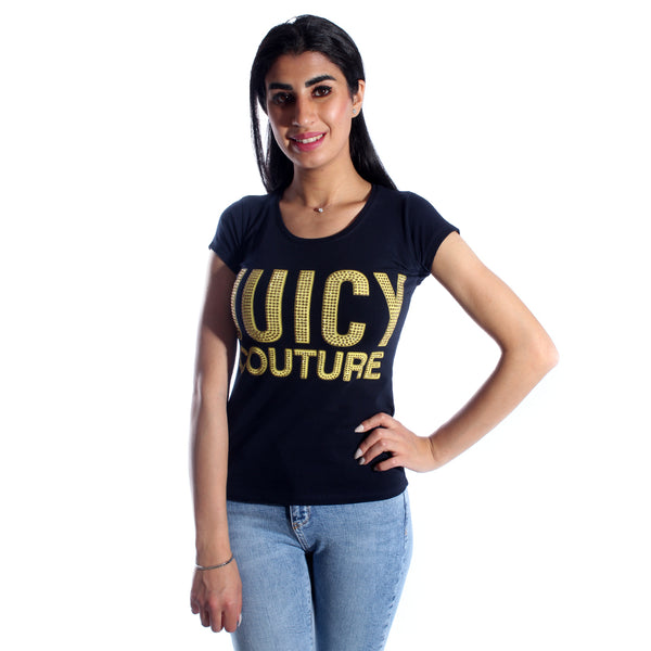 women t-shirt/ navy/ cotoon / made in Turkey -3409