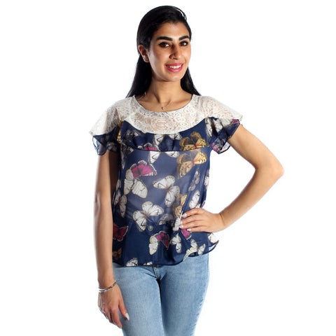 women blouse/ colored/ 100% cotton/ made in Turkey -3395