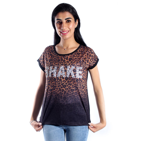 women t-shirt/ colored/ polyester+ viscose / made in Turkey -3423