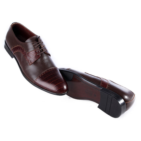 Men  shoes / 100 % genuine leather/ brown -6974