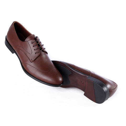 Men  shoes / 100 % genuine leather/ brown -6975