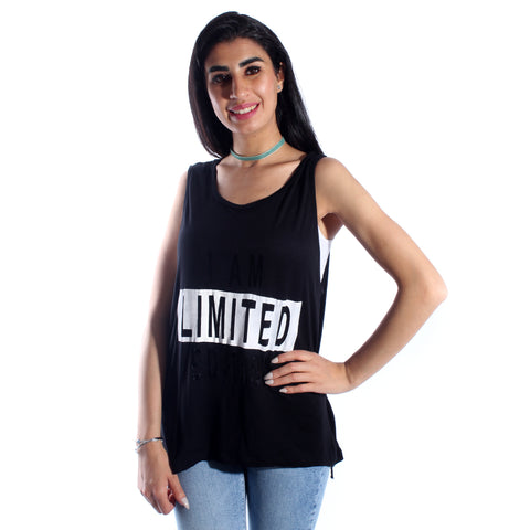 women t-shirt/ black/ cotoon / made in Turkey -3422