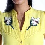 women shirt/yellow/ cotton/ made in Turkey -3455