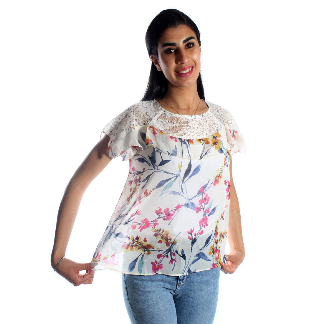 women blouse/ colored/ 100% cotton/ made in Turkey -3394