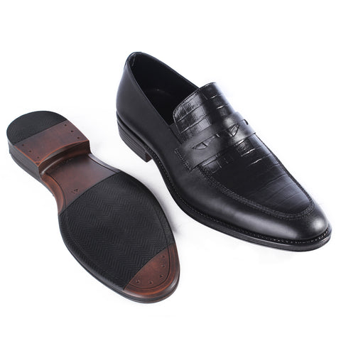 Formal shoes / 100% genuine leather -black -7178