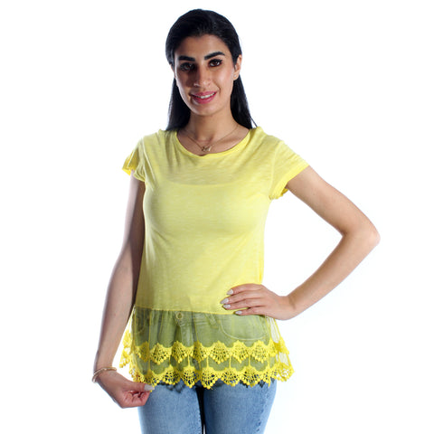 women t-shirt/ yellow/ cotoon / made in Turkey -3429