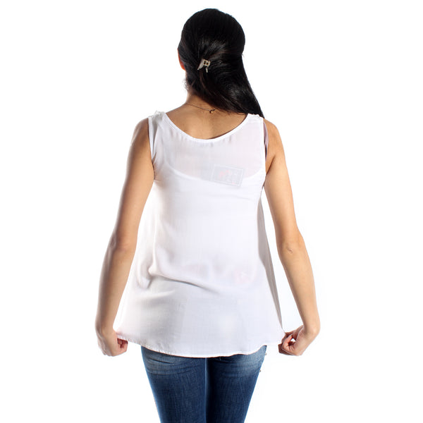 women t-shirt/white/ cotoon made in Turkey -3450