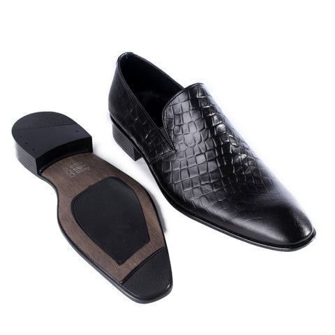 Formal shoes / 100% genuine leather -black -7188