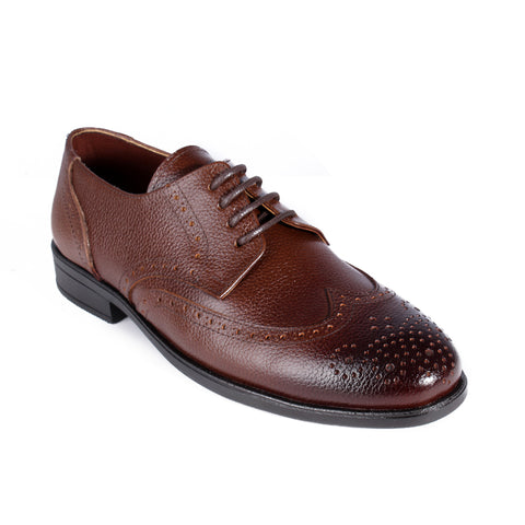 Men  shoes / 100 % genuine leather/ brown -6998