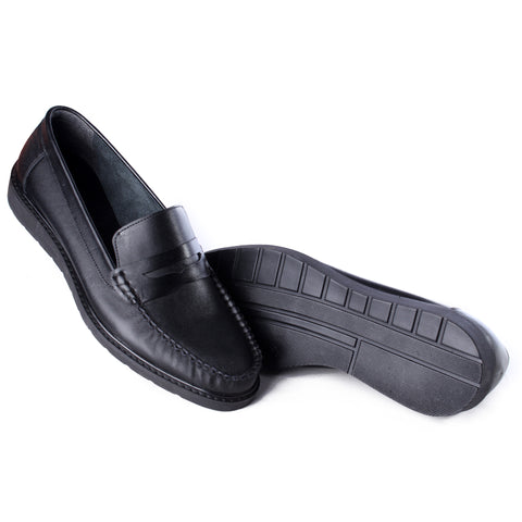 Men  shoes / 100 % genuine leather/ black -6983