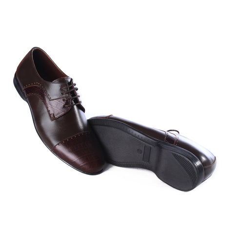 Men  shoes / 100 % genuine leather/ dark brown -6984