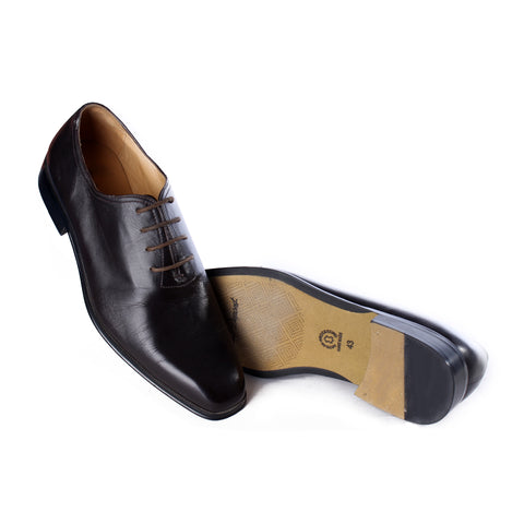 Men  shoes / 100 % genuine leather/ dark brown -6982