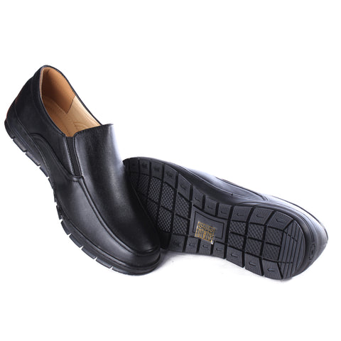 Casual Men  shoes / 100 % genuine leather/ black -6987