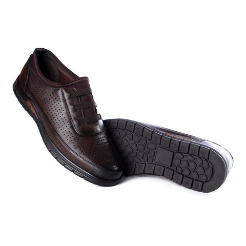 Casual Men  shoes / 100 % genuine leather/ brown -6985