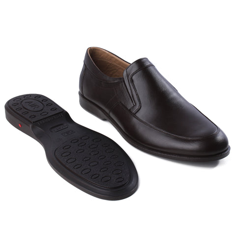 Formal shoes / 100% genuine leather -brown/ big size -7174