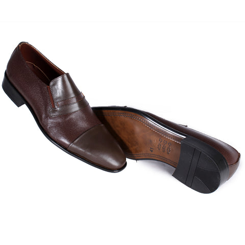 Men  shoes / 100 % genuine leather/ brown -7111