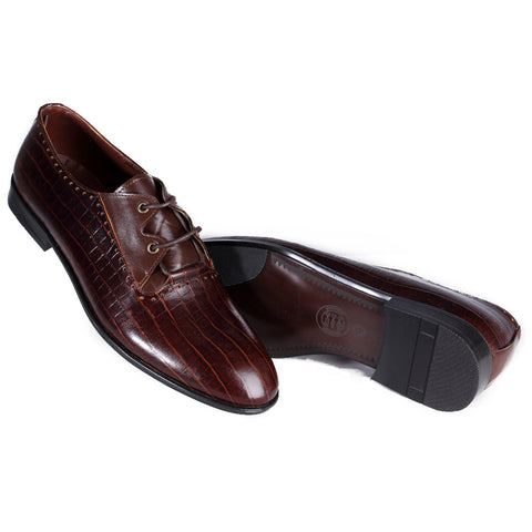Men  shoes / 100 % genuine leather/ brown - 7110