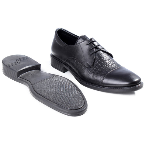 Formal shoes / 100% genuine leather -black -7193