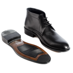 Formal winter shoes /  100% genuine leather -black  -5963