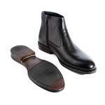 Formal winter shoes /  100% genuine leather -black -5964
