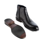 Formal winter shoes /  100% genuine leather -black -5965