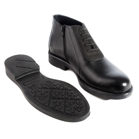 Formal winter shoes /  100% genuine leather -black -5966