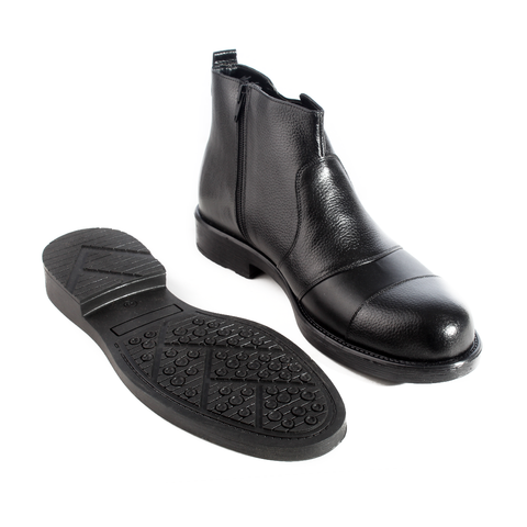 Formal winter shoes /  100% genuine leather -black -5967