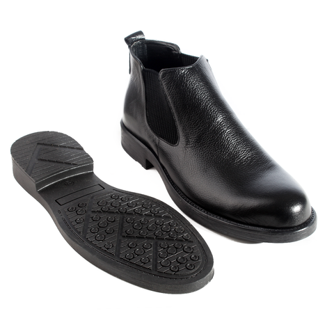 Formal winter shoes /  100% genuine leather -black -5968