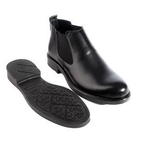 Formal winter shoes /  100% genuine leather -black -5970
