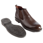 Formal winter shoes / 100% genuine leather – brown -5981