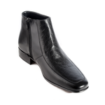 Formal winter shoes /  100% genuine leather -black -5974