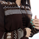 Long coat with removable hoodie/ brown -5900