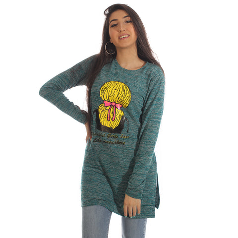 Women Autumn Winter Long Sleeve Tunic Blouse – Free Size -5852