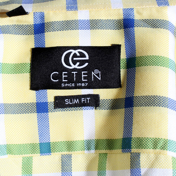 Men shirt- colored karohat  / made in Turkey -3301